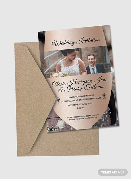 Winery Wedding Invitation Card Template