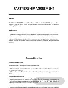 Heads of Agreement Template