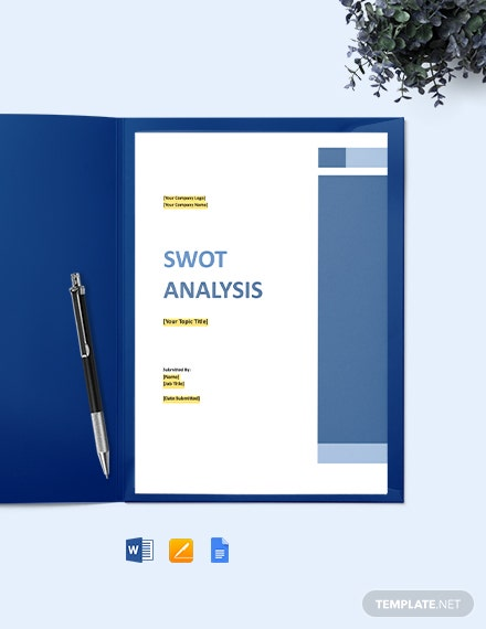 Free Blank IT SWOT Analysis Template