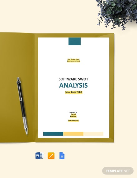 Free Simple Software SWOT Analysis Template