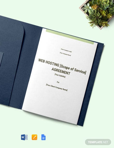 Free Sample Web Development and Hosting Agreement Template