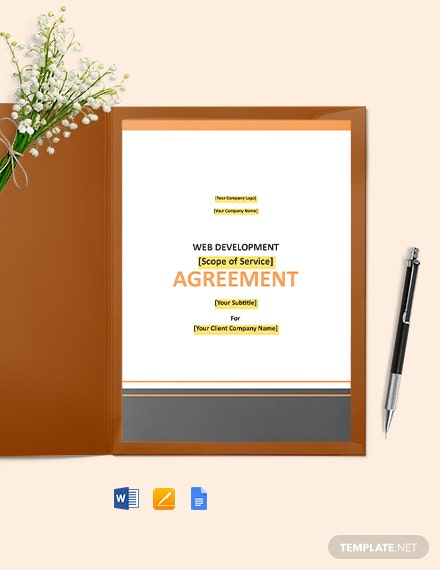 Free Basic Web Development Agreement Template