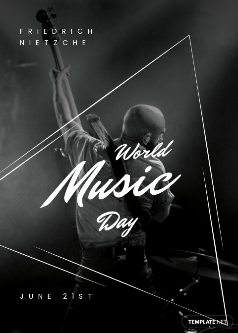 World Music Day Greeting Card Template