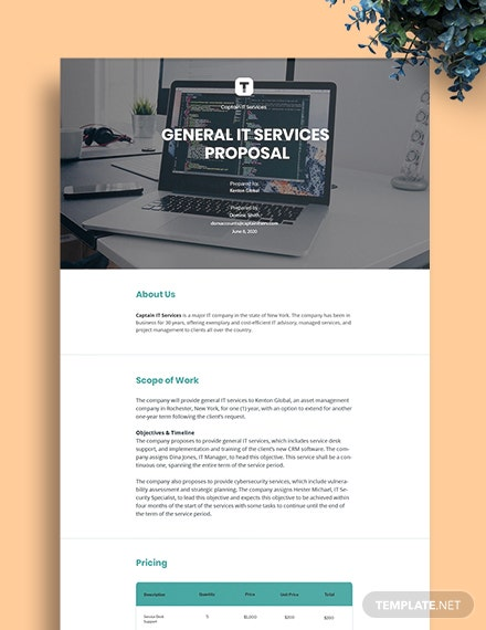 Free Basic IT Proposal Template