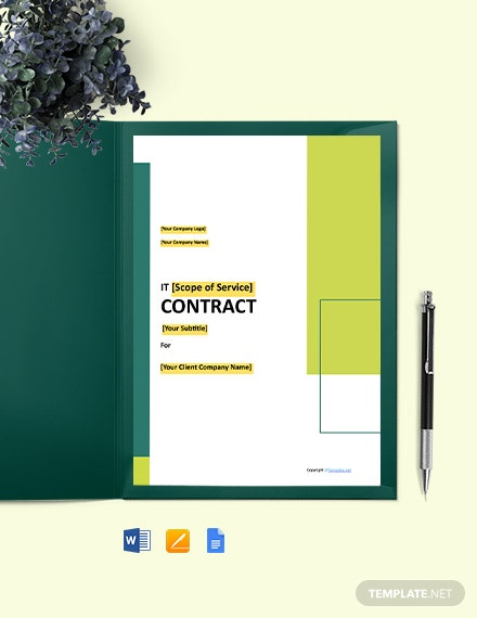 Free Simple IT Contract Template