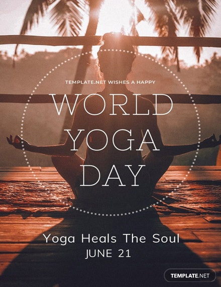 Free International Yoga Day Template