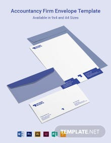 Accountancy Firm Envelope Template
