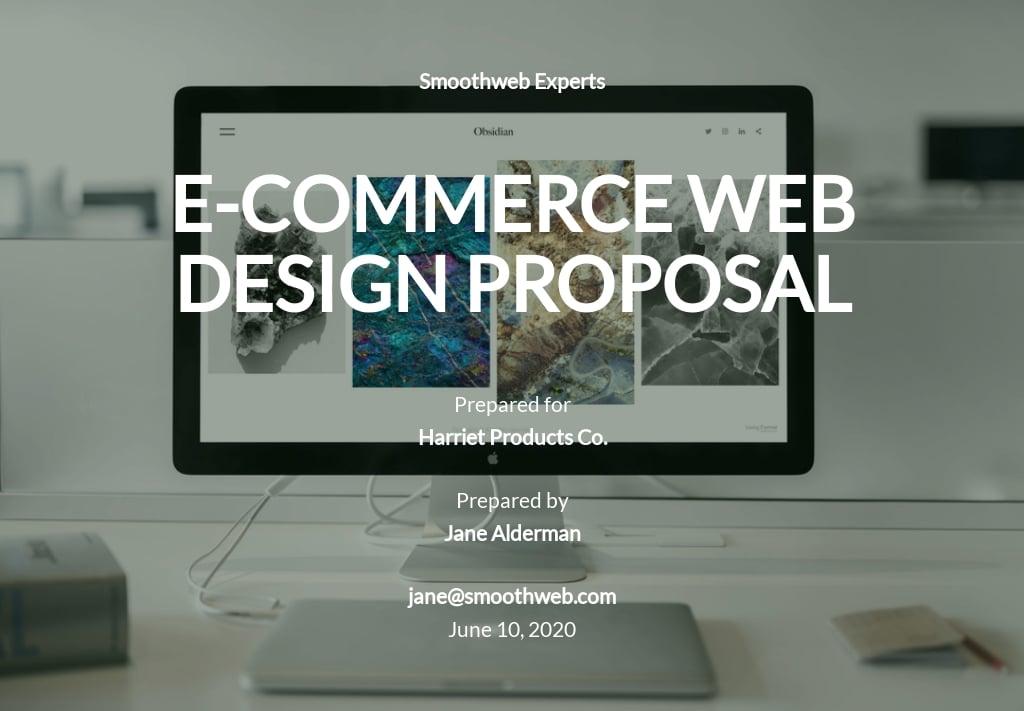 Simple Web Design Proposal Template