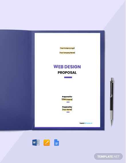 Free Simple Web Design Proposal Template