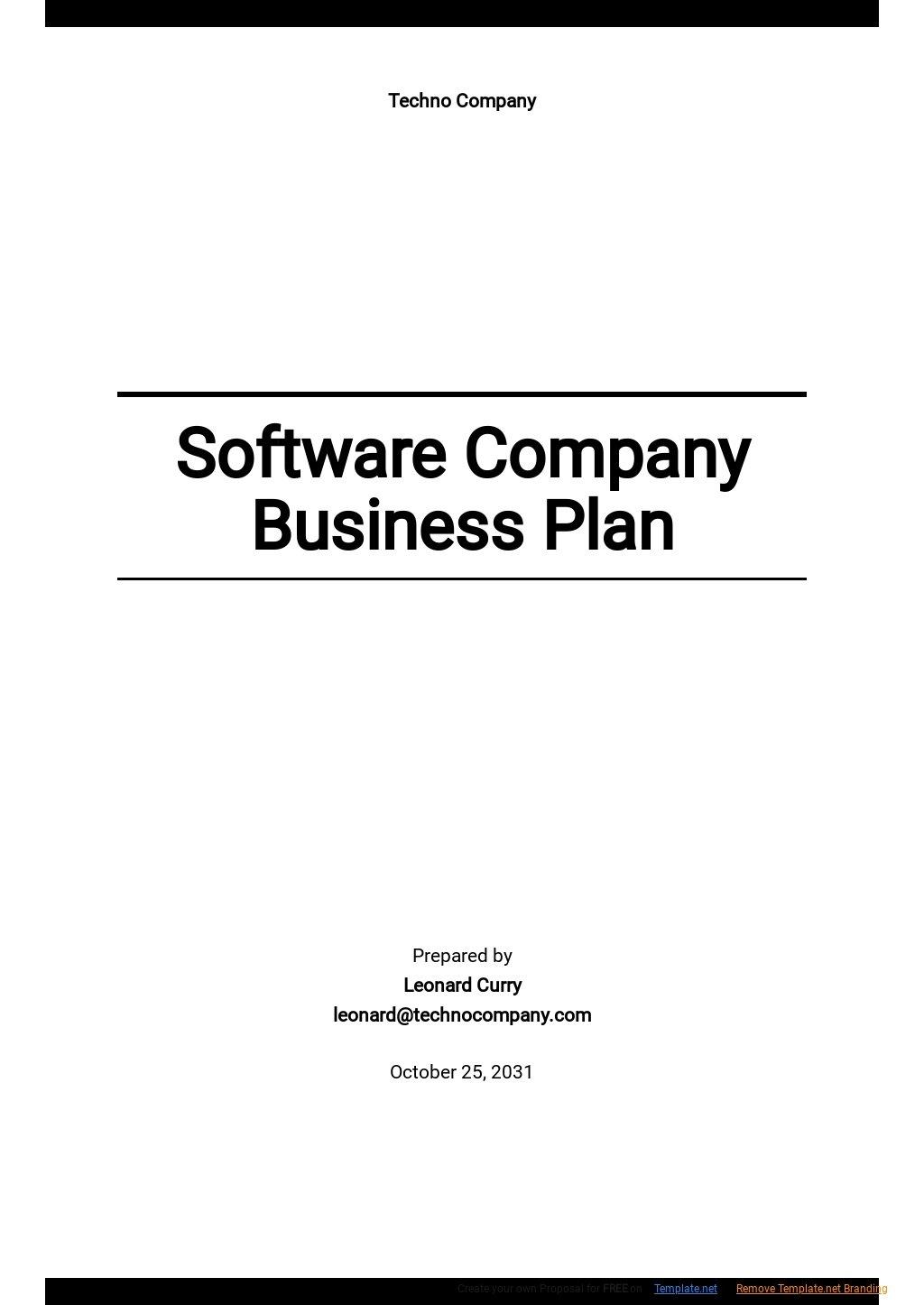 Software Company Business Plan Template.jpe