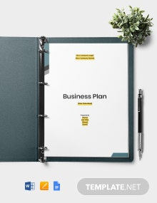 Software Company Business Plan Template