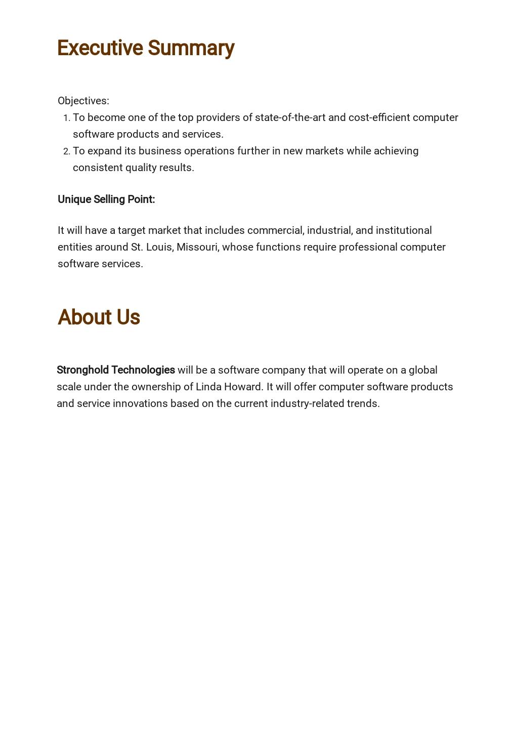 Computer Software Business Plan Template 1.jpe