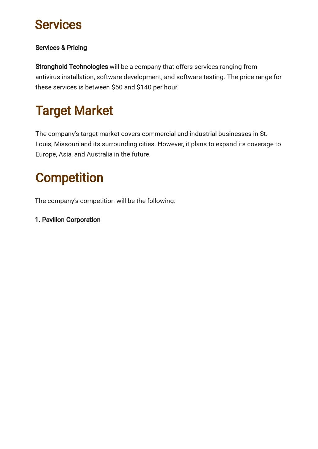 Computer Software Business Plan Template 2.jpe