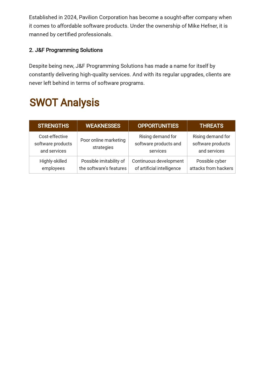 Computer Software Business Plan Template 3.jpe