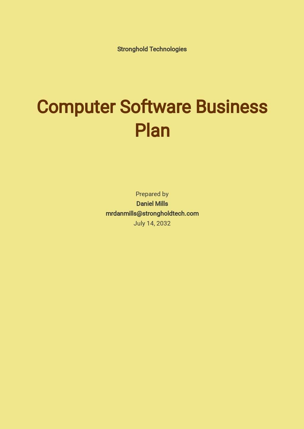 Computer Software Business Plan Template.jpe