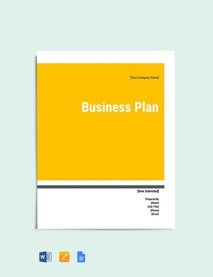 Computer Software Business Plan Template