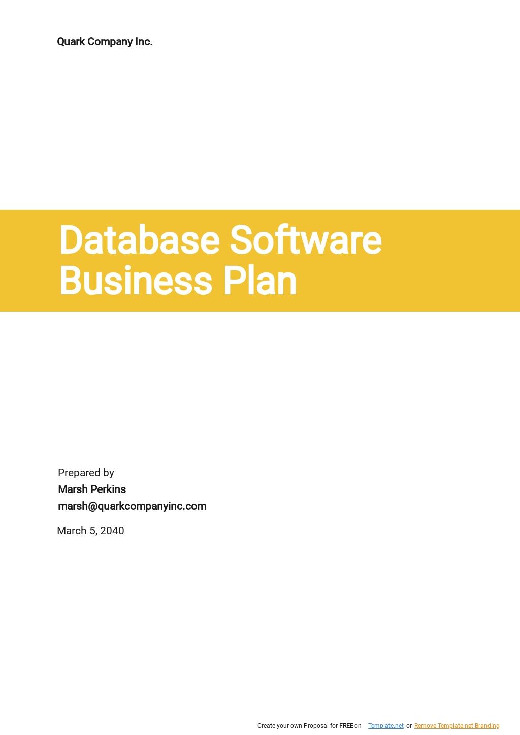 Database Software Business Plan Template.jpe