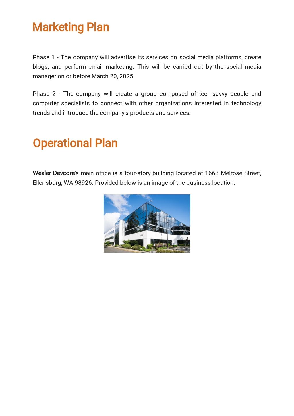 Software Testing Business Plan Template 4.jpe