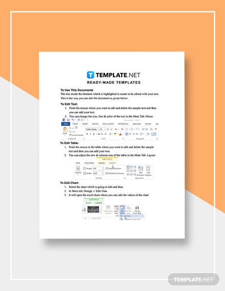 Software Testing Business Plan Template instructions