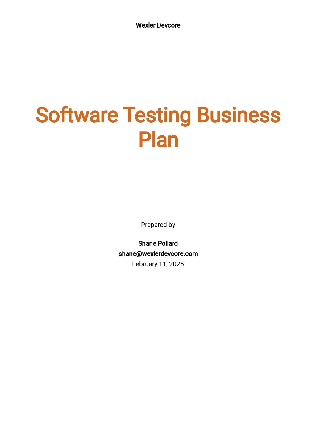 Software Testing Business Plan Template.jpe