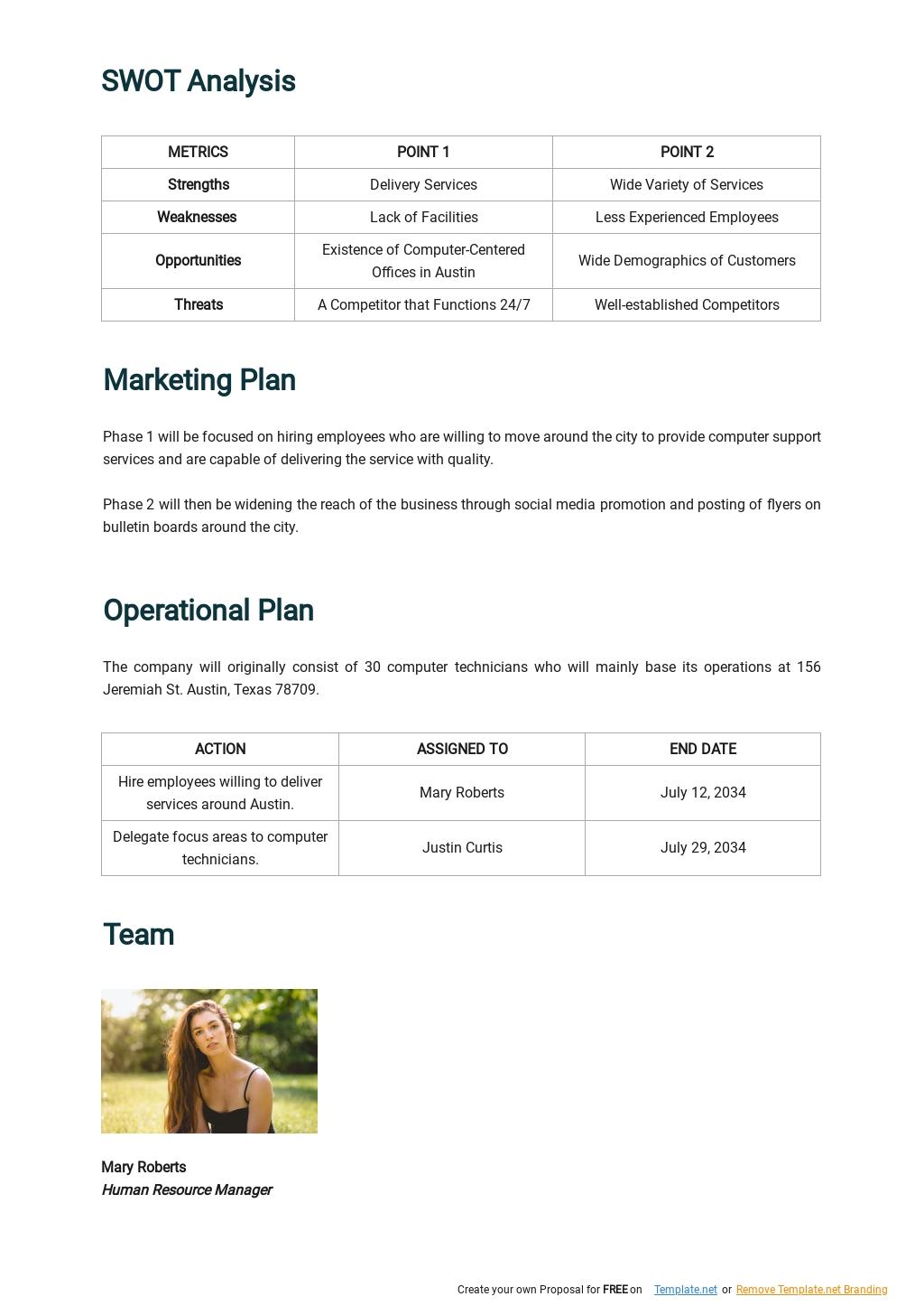Computer Support Business Plan Template 2.jpe