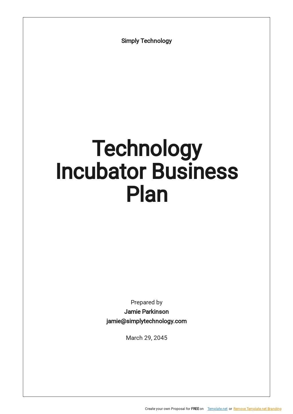 Technology Incubator Business Plan Template.jpe