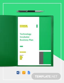 Technology Incubator Business Plan Template
