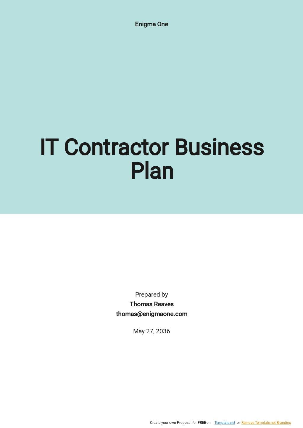 IT Contractor Business Plan Template.jpe