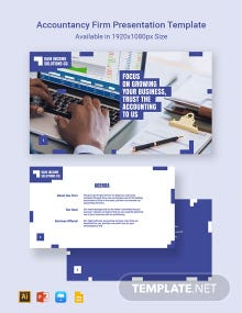 Accountancy Firm Presentation Template