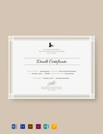 free death certificate template 440x570 1