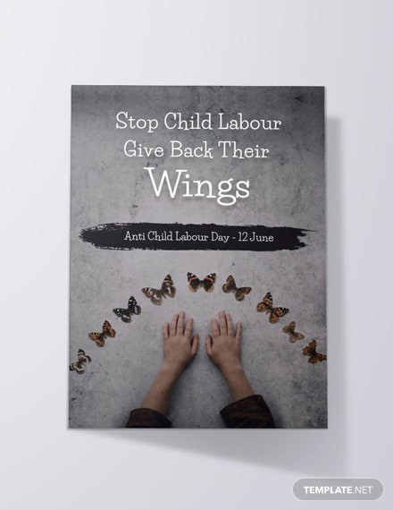 Free World Day Against Child Labour Invitation Template