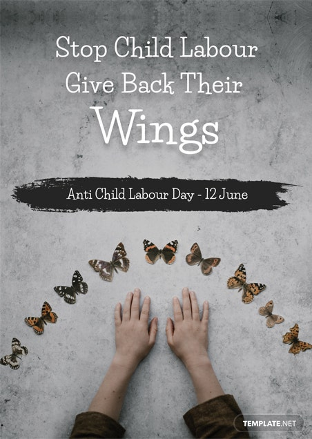 World Day Against Child Labour Invitation Template