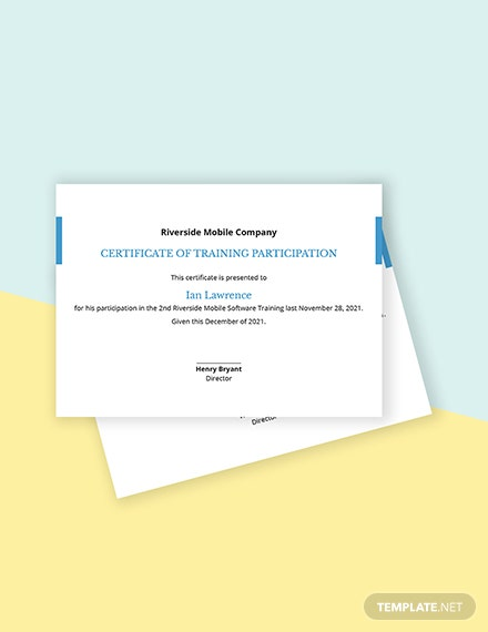 IT Training Certificate Template
