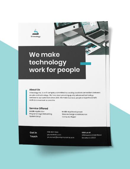 Free Modern IT Flyer Template download