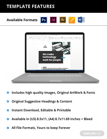 Free Modern IT Flyer Template format