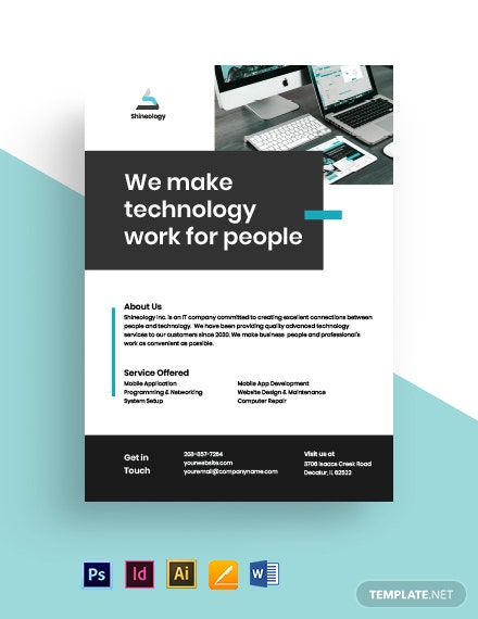 Free Modern IT Flyer Template
