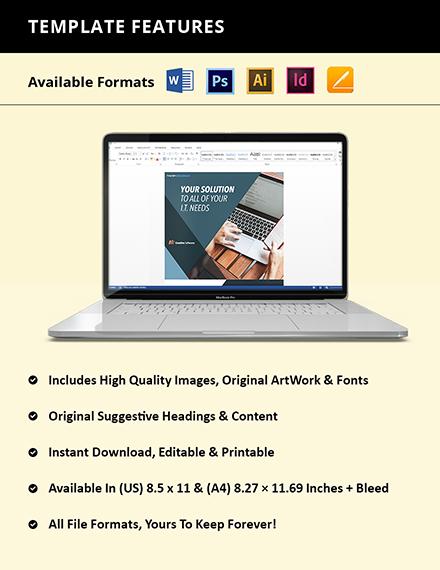 Free Creative Software Company Flyer Instruction