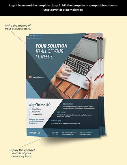 Free Creative Software Company Flyer editable