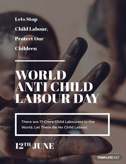 Free World Anti Child Labour Day Card