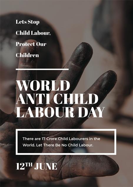 World Anti Child Labour Day Card