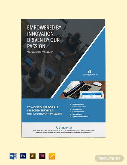 Software Services Flyer Template