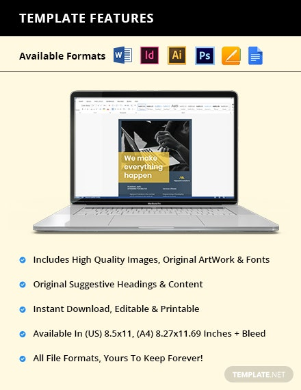 IT Promotion Flyer Template  - Google Docs, Illustrator, InDesign, Word, Apple Pages, PSD