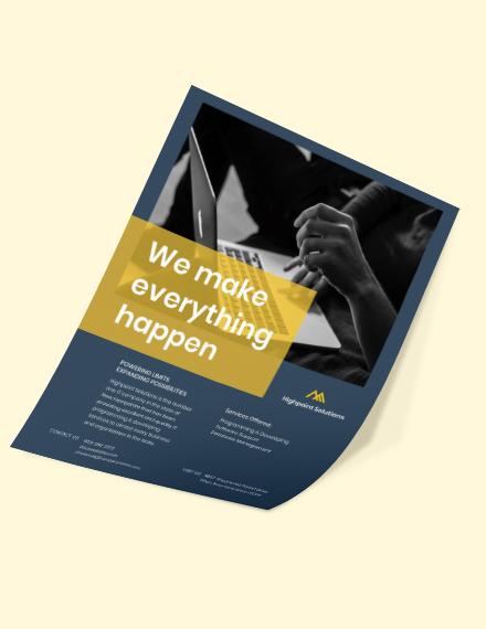 IT Promotion Flyer Format