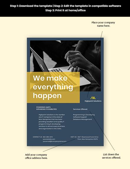 IT Promotion Flyer Sample
