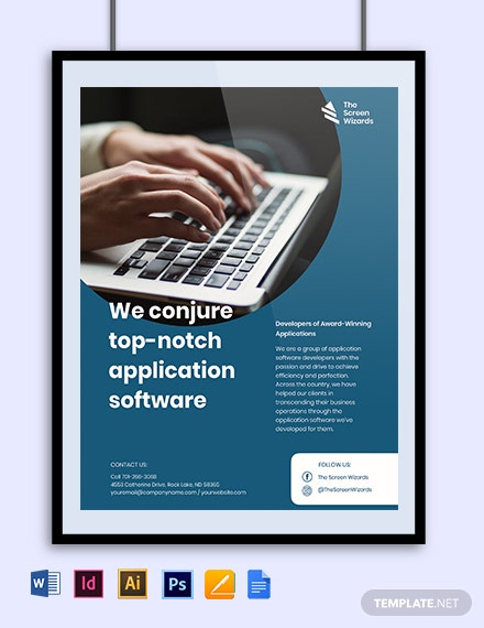 Application Software Developer Flyer Template