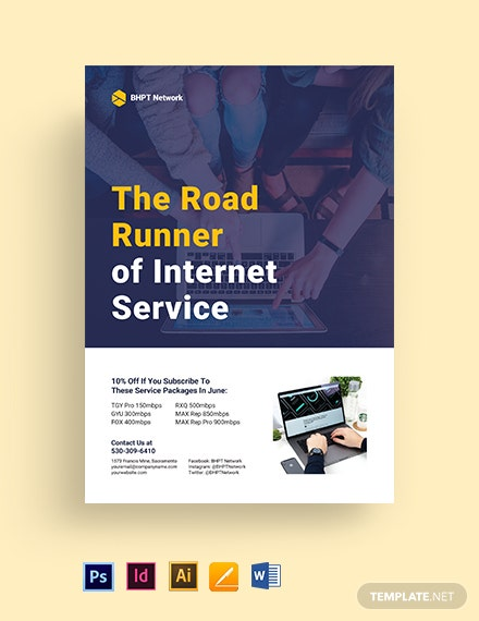 ISP Internet Service Flyer Template