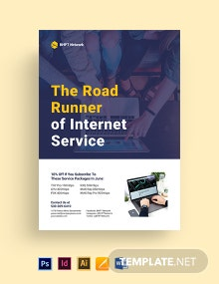 ISP Internet Service Flyer Template