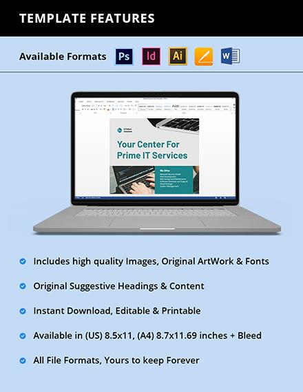 IT Marketing Flyer Template Format