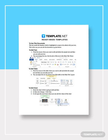 Release Status Report Template instruction