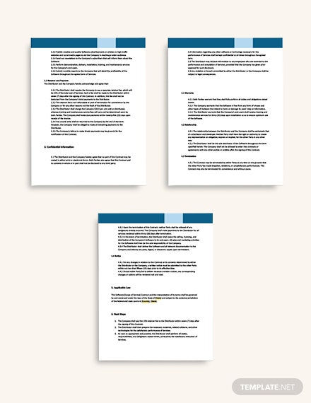 Software Distribution Contract format